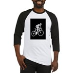 Bicycle Racing Abstract Silhouette Print Baseball