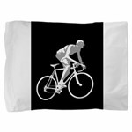 Bicycle Racing Abstract Silhouette Print Pillow Sh