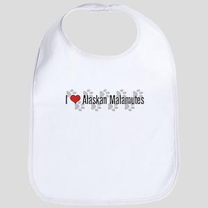 I heart Malamutes Bib
