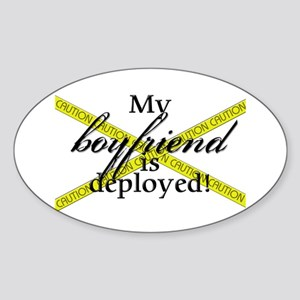 Deployed Boyfriend Oval Sticker