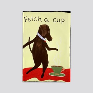 Fetch A Cup Rectangle Magnet