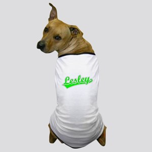 Retro Lesley (Green) Dog T-Shirt