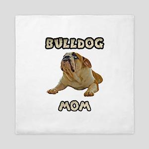 Bulldog Mom Queen Duvet