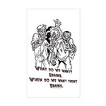 What Zombies Want Rectangle Sticker