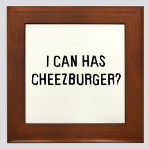 I can has cheezburger? Framed Tile
