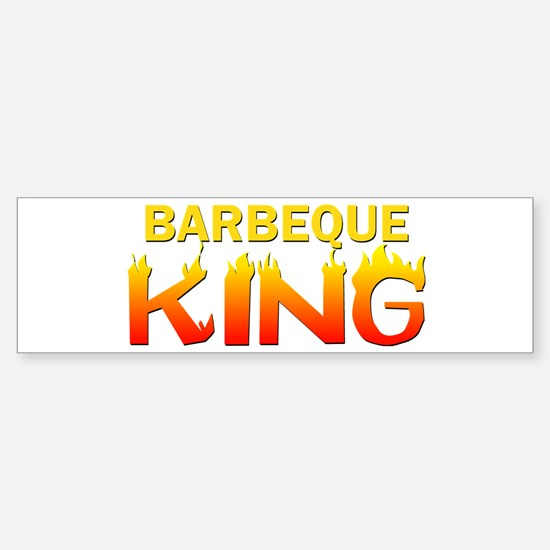 Barbeque King Bumper Bumper Bumper Sticker
