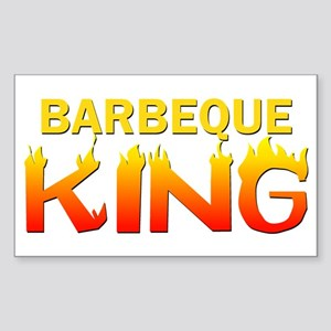 Barbeque King Rectangle Sticker