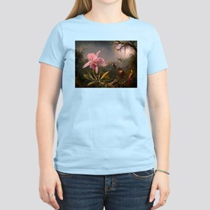 Cattleya Orchid and Hummingbirds T-Shirt