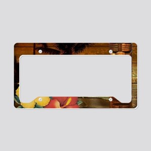 passion flower Palm tree hawa License Plate Holder