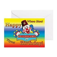 Shriners Birthday Clown Greeting Cards (Pk of 10)