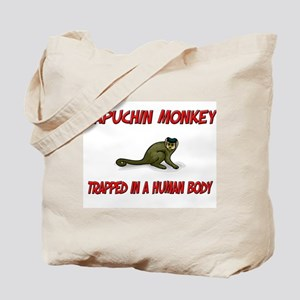 Capuchin Monkey trapped in a human body Tote Bag