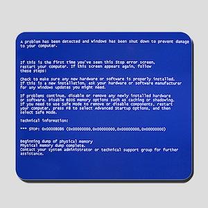 Blue Screen of Death Mousepad