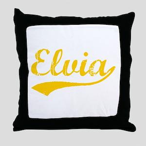 Vintage Elvia (Orange) Throw Pillow