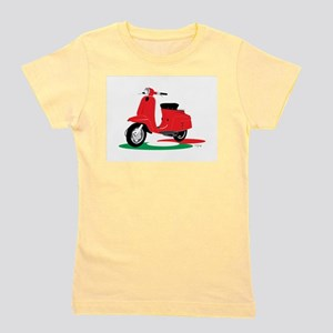 Retro Moped Red T-Shirt