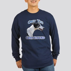 GreyhoundObey Long Sleeve Dark T-Shirt