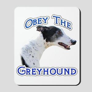 GreyhoundObey Mousepad