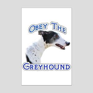 GreyhoundObey Mini Poster Print