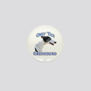 GreyhoundObey Mini Button
