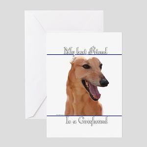 GreyBestFriend2 Greeting Card