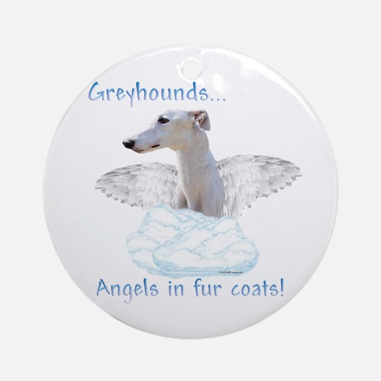 Greyhound Angel Ornament (Round)