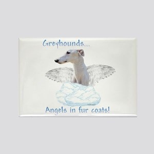 Greyhound Angel Rectangle Magnet