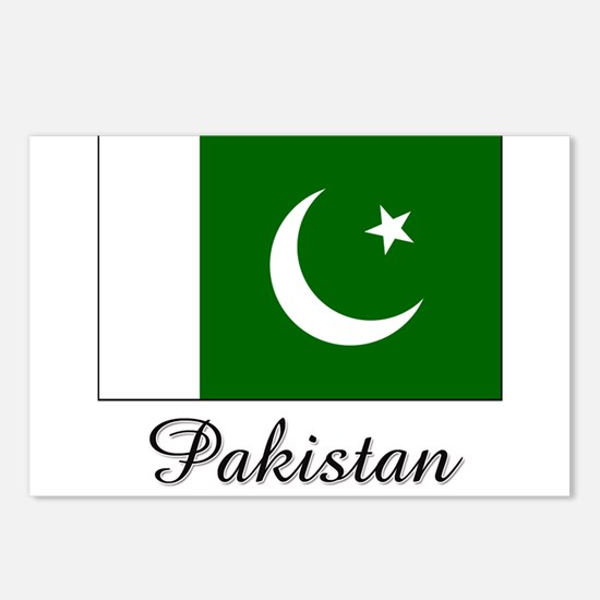 Pakistan Flag Postcards (Package of 8)