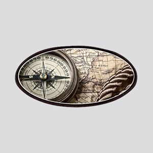 voyage compass vintage world map Patch