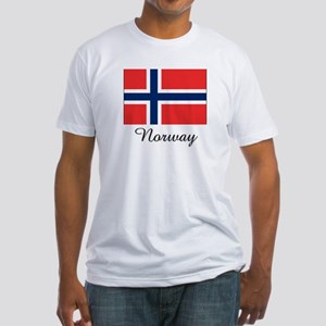 Norway Flag Fitted T-Shirt
