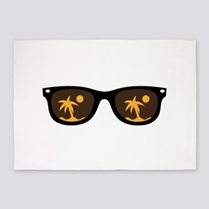 sunglasses 5'x7'Area Rug