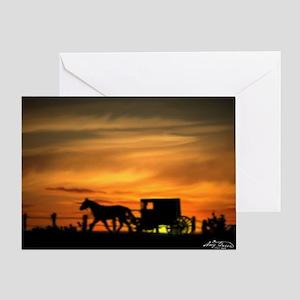 Amish Buggy Greeting Card