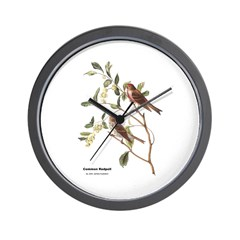 Audubon Common Redpoll Birds Wall Clock