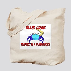 Blue Crab trapped in a human body Tote Bag
