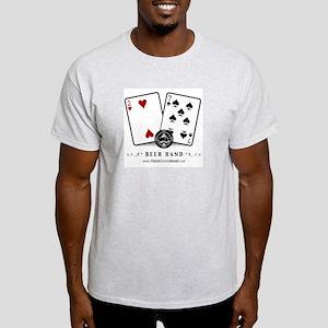 """PokerShark """"Beer Hand"""" Ash Grey Tee"""