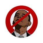 """No Obama 2008 3.5"""" Button (100 pack)"""