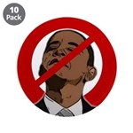 """No Obama 2008 3.5"""" Button (10 pack)"""
