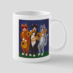 Cats Playing Brass Instruments Mugs