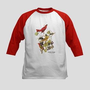 Audubon Summer Tanager Birds (Front) Kids Baseball
