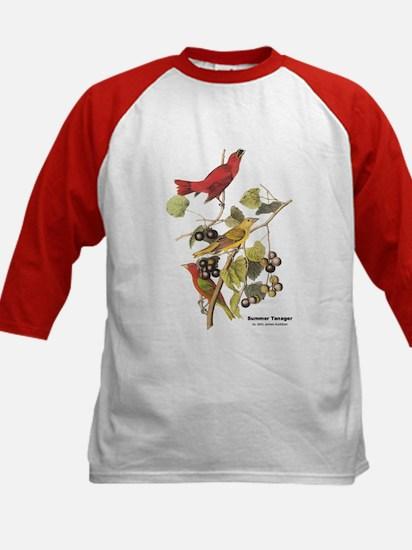 Audubon Summer Tanager Birds (Front) Tee