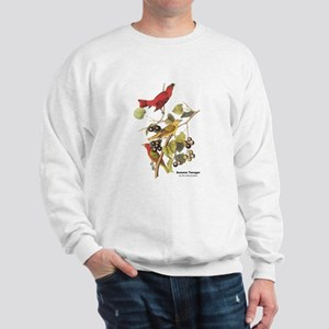 Audubon Summer Tanager Birds (Front) Sweatshirt
