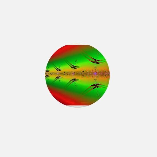 Funny Fractal art Mini Button