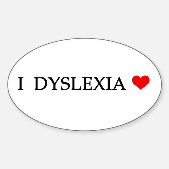 Dyslexia Oval Decal