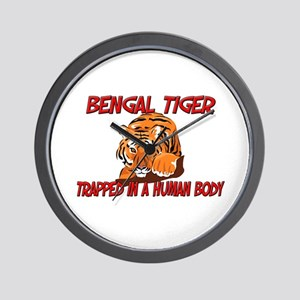 Bengal Tiger trapped in a human body Wall Clock