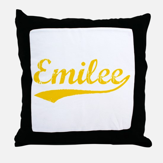 Vintage Emilee (Orange) Throw Pillow