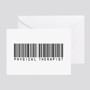 Physical Therapist Barcode Greeting Card