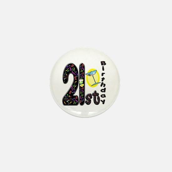 21st Birthday Mini Button