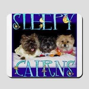 Sleepy Cairn Terriers Mousepad