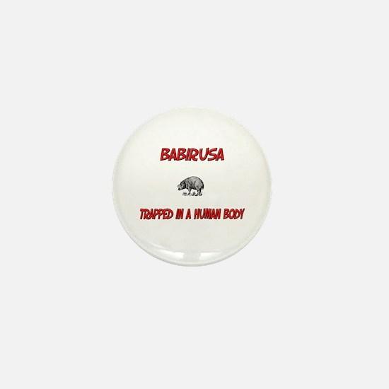 Babirusa trapped in a human body Mini Button