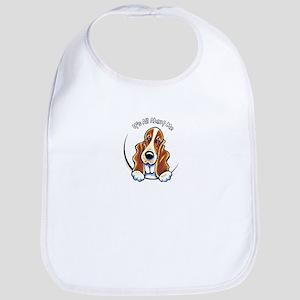 Basset Hound IAAM Logo Baby Bib