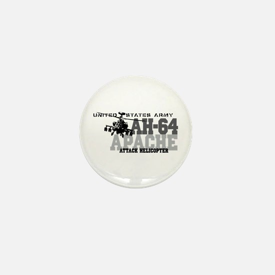Army Apache Helicopter Mini Button