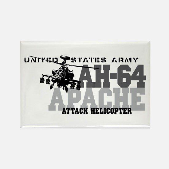 Army Apache Helicopter Rectangle Magnet (10 pack)